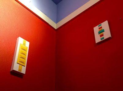 """Geometric Language"" By Kadesh Carter - OAD installation in Rockridge, CA."
